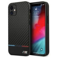 BMW - M-Collection Stripe - Bi-Material - iPhone 12, 12 Pro  (6.1) - Carbon Hard Cover