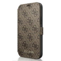 Guess - 4G Charms -  iPhone 12, 12 Pro (6.1)  - brown - Book Case