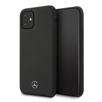 Mercedes Benz - Silicone Line - iPhone 12, 12 Pro (6.1) - black - Hard Cover