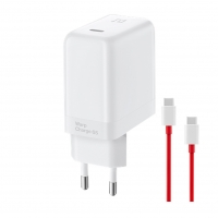 ONEPLUS - Original Warp Charger Typ C - 65W - white + Typ C to Typ C cable - Quick Charger  + charge cable