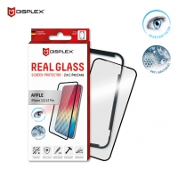 Displex - Pro Care - Bluelight Filter / Anti-Bacterial Real Glass 3D + Frame - iPhone 12 , 12 Pro