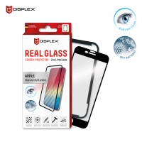 Displex - Pro Care - Bluelight Filter / Anti-Bacterial Real Glass 3D + Frame - iPhone  6, 7, 8, SE 2020