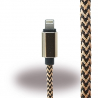 Premium Cable - Lightning to USB - Black/ Gold