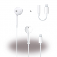 Apple - EarPods / In-Ear Headset Lightning Anschluss + Adapter Lightning auf 3,5mm Klinke