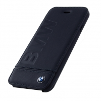 BMW - Signature Logo - Leder Book Cover - Apple iPhone6 / 6S / 7 / 8 – Schwarz