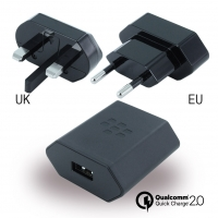 BlackBerry - Travel Charger + EU Clip + UK Clip + NA Clip