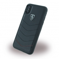 Ferrari - Heritage Quilted - Leather Hard Cover - Apple iPhone X