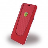 Ferrari - Pit Stop - Carbon Book Cover - Samsung G950F Galaxy S8