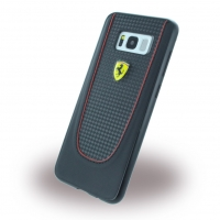Ferrari - Pit Stop - Carbon Hardcover - Samsung G955F Galaxy S8 Plus