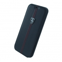 Ferrari - Vertical Stripe Leder - Book Cover - Apple iPhone X