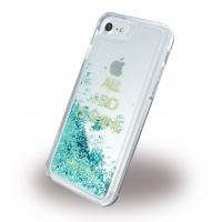 Guess - Liquid Glitter Shine GUHCP7GLUQBL - Hardcover - Apple iPhone 6, 6s, 7