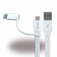 Huawei - 2in1 Ladekabel + Datenkabel - Micro USB und USB Typ C