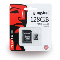 Kingston - SDC10G2/128GB - 128GB MicroSDXC Speicherkarte/ SD Karte + SD Adapter - Klasse 10