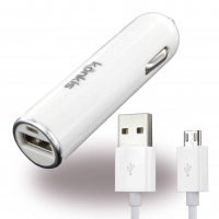 Quality Accessory - USB Car Charger + Micro-USB Cable - 1.000mA