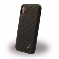 Mercedes-Benz - Pattern II - Apple iPhone X Echtes Leder Hard Case Handyhülle