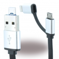 Magic Cable - Exchangeable Data and Charging Cable - Micro USB + Lightning
