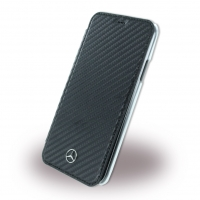 Mercedes Benz - Dynamic - Carbon Book Cover - Apple iPhone X