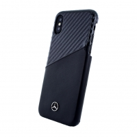 Mercedes Benz - Dynamic - Apple iPhone X Carbon Leder Cover Case Handyhülle Schutzhülle