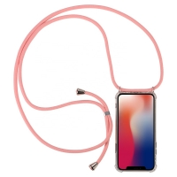 Cyoo - Necklace Case + Necklace - Apple iPhone 11 pro max- Pink - Silicon Case