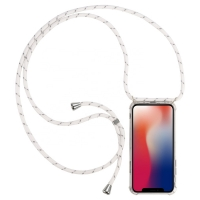 Cyoo - Necklace Case + Necklace - Apple iPhone 11 pro max - white - Silicon Case