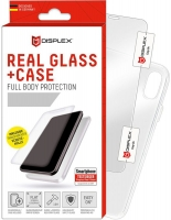 Displex - Real Glass 0,33mm + Case - Apple iPhone X, Xs- Screen glass Protectors