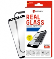Displex - Real Glass 0,33mm + Frame 3D - Samsung A20e  - Screen glass Protectors - black