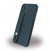 Hand Strap - Kunstleder Silikon Case - Apple iPhone X